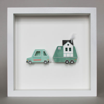 Framed artwork, papercraft