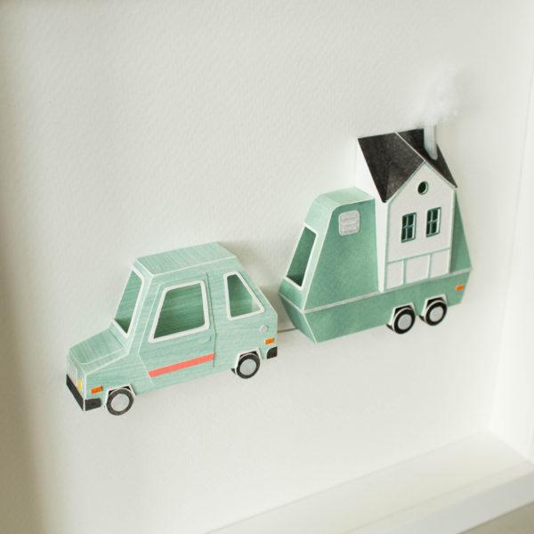 Framed artwork, papercraft