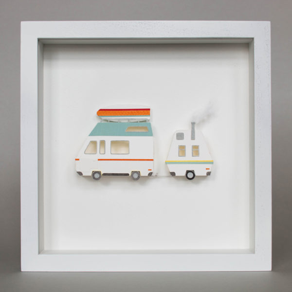 Framed papercraft artwork